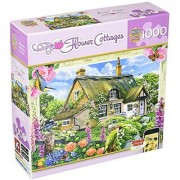 MasterPieces Puzzle Company Flower Cottages Foxglove Cottage Jigsaw Puzzle (1000-Piece) Art by Howard Robinson