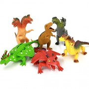 "Dragon Toys,Rubber Dragons Toys Set 8"" With A Gift Box(6 Piece)"