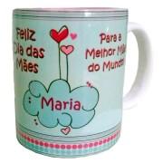 Caneca Personalizada - Dia das Mães - Escreva o nome