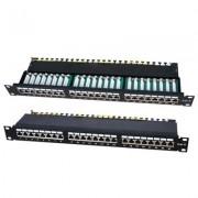 Accesoriu pentru rack: LanKATT Patch Panel cat5e FTP 24 x RJ45 – 1U cu suport de cabluri