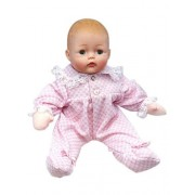 Huggums« Pink Check Baby 12 inch doll - Caucasian
