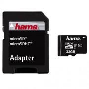 Card Hama Micro SDHC 32GB clasa 10 cu adaptor SD