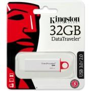 USB STICK KINGSTON; model: DTIG4/32GB; capacitate: 32 GB; interfata: 3.0; culoare: ALB