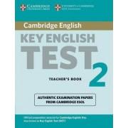 Cambridge Key English Test 2 Teacher's Book by Cambridge ESOL