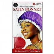 Donnas Premium Smooth Soft Elastic Satin Bonnet Works Great With Rollers (Random Colors)