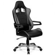 Hjh Poltrona Gaming RACER PRO I, spettacolare design sportivo, omologata per 8h giornaliere, in grigio e nero