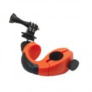 Sistem de prindere pentru bicicleta cu adaptor de trepied si surub (Portocaliu)