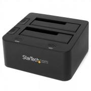 StarTech.com - Docking Station USB 3.0 con UASP de 2 Bahías para Disco Duro o SSD SATA de 2,5 o 3,5 Pulgadas