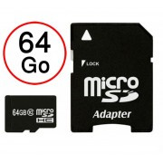 Lenovo Moto G5 Carte Mémoire Micro-SD 64 Go + Adaptateur de qualité by PH26®
