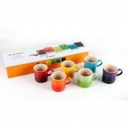 Le Creuset Conjunto Caneca de Espresso Rainbow 6 Peças Colorida