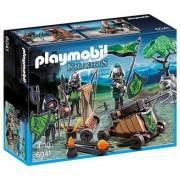 Playmobil Caballeros - Playset con figuras del lobo y catapulta (6041)