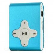 Recargable Clip-On Screen Free MP3 Player w / TF Slot / 3?5 mm - Azul