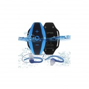 AGPtEK S05 8 GB Waterproof MP3 Player With Water Resistant Headphones,Wearable For Swimming Surfing Running,Blue
