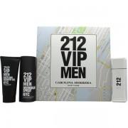 Carolina Herrera 212 VIP Men Комплект (EDT 100ml + Deo Spray 150ml + SG 75ml) за Мъже