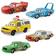 Disney / Pixar CARS Movie Exclusive 1:43 Die Cast Car 5-Pack Piston Cup [Lightning McQueen Chick Hicks Pizza Planet Van Darrell Cartrip and The King]
