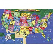 White Mountain Puzzles US Map - 48 Piece Jigsaw Puzzle
