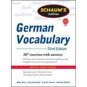 Schaum's Outline of German Vocabulary by Edda Weiss