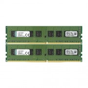 Kingston KVR21N15S8K2/8 ValueRAM Memoria DDR4 da 8 GB, 2133 MHz, Non-ECC CL15 DIMM, 2x4 GB, Verde/Nero