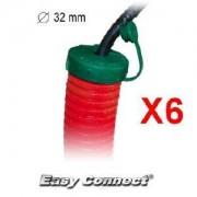 Easy Connect Lot de 6 Bouchons pour Gaine 32mm