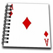 3dRose db_76550_3 Ace of Diamonds playing card-Red Diamond suit-Gifts for cards game players of poker bridge games-Mini Notepad 4 by 4
