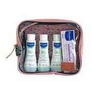 Bolsa de viagem com os indispensáveis em rosa - Mustela