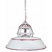 Witte Metalen Hanglamp - Ø36x23cm