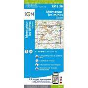 Wandelkaart - Topografische kaart 2926SB Montceau-les-Mines, Ecuisses | IGN