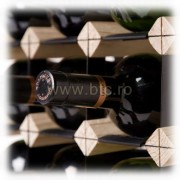 Raft lemn natur 42 sticle