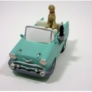 Coca Cola Town Square Collection 57 Chevy 2 Door Convertible with Dog & Coke Accessory