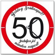 Szülinapi 50 sebességkorlátozós - Tréfás falióra