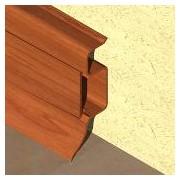 PBC505 - Plinta PROLUX din PVC culoare cires inchis pentru parchet 50 mm