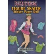 Glitter Figure Skater Sticker Paper Doll by Barbara Steadman