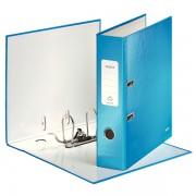 Biblioraft Leitz 180º Wow, 85 mm, albastru metalizat