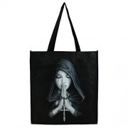Jones Home and Gift Anne Stokes gothic Prayer shopping bag, multicolore