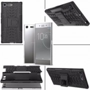Sony Coque Protection Noir Rigide Renforcé Anti-Choc pour Sony Xperia XZ Premium