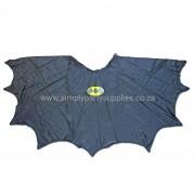 Bat Boy Childs Fancy Dress Scalloped Cape - Ages 5-7