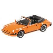 Minichamps 430062038 - 1:43 1983 Porsche 911 Carrera Cabriolet, Arancio