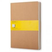 Moleskine 944371 - Pack de 3 cuadernos con cuadrículas, 19 x 25 cm: Extra Large (Moleskine Cahier)