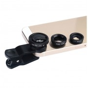 Kent Faith Kit 3in1 Mobile Phone Lens Kit lentile conversie fish-eye, wide-angle si macro pentru smartphone