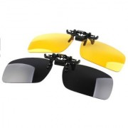 Day Night Vision Polarized Clip-on Flip-up Driving Glasses