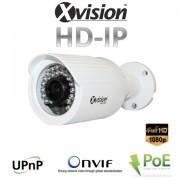 Monitorovací Full HD IP kamera s 30m IR LED, PoE