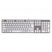 Tastatura Hama Rossano White / Silver
