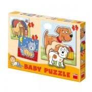 Set de puzzle-uri - Animale (3-5 piese)