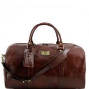 Grand Sac de Voyage Cuir Marron avec Poches -Tuscany Leather-