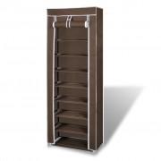 vidaXL Платнен шкаф за обувки с покривало 57 х 29 162 см, кафяв