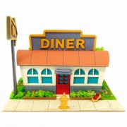 Mini American Diner and miniature MP05-03 (japan import)