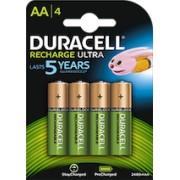 4 Batterie Ricaricabili Stilo AA 2400mAh Duracell
