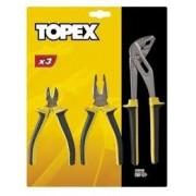 TOPEX Komplet szczypiec ze sprężynką rozpierającą 3 cz