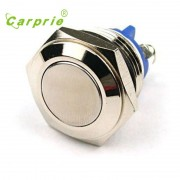 AUTO Start Horn Button Momentary Steel 16mm Push Button Switch Car Dash 12V Metallic luster and blue color metal switch Au 05
