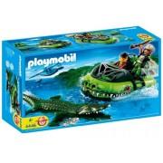 Playmobil 4446 Hunter Aligator Adventure 58 Piece Playset
